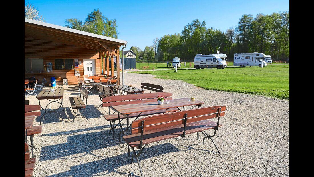 Gartenlokal des Wohnmobilparks Schwarzack am Wildpark