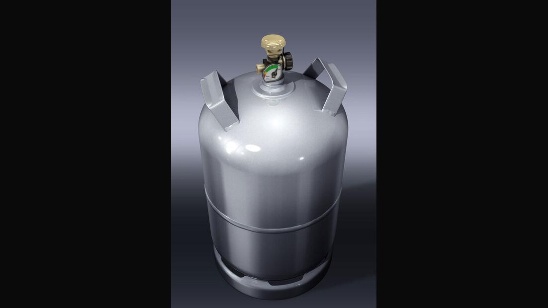 Gasflaschen in Wohnmobilen