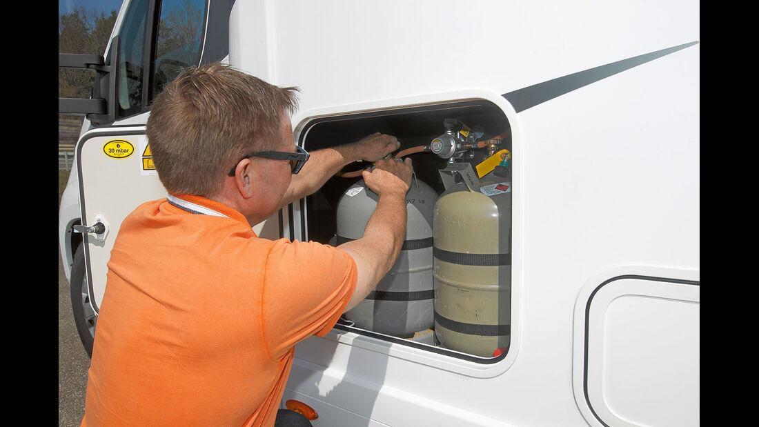 Gaskasten beim Eura Mobil