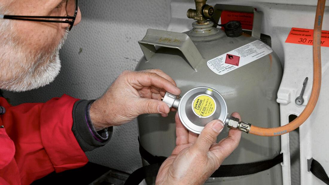 Gasprüfung im Wohnmobil