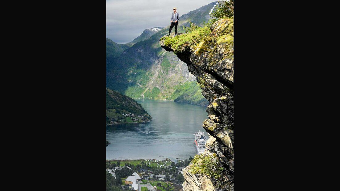 Geiranger-Fjord und Camping Geiranger Norwegen