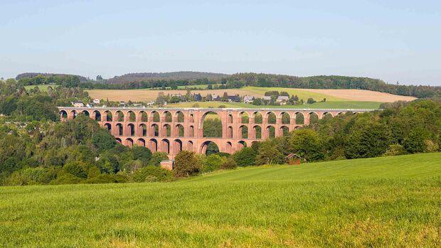 Goeltzschtal bridge between Netzschkau and Mylau, Reichenbach im Vogtland, Saxony, Germany