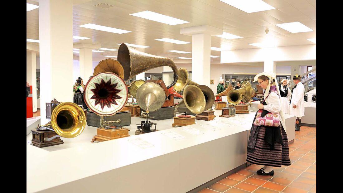 Grammophone aller Art, Tonmöbel und antiquierte Hi-Fi-Anlagen bilden die Schwerpunkte im Deutschen Phonomuseum in St. Georgen.