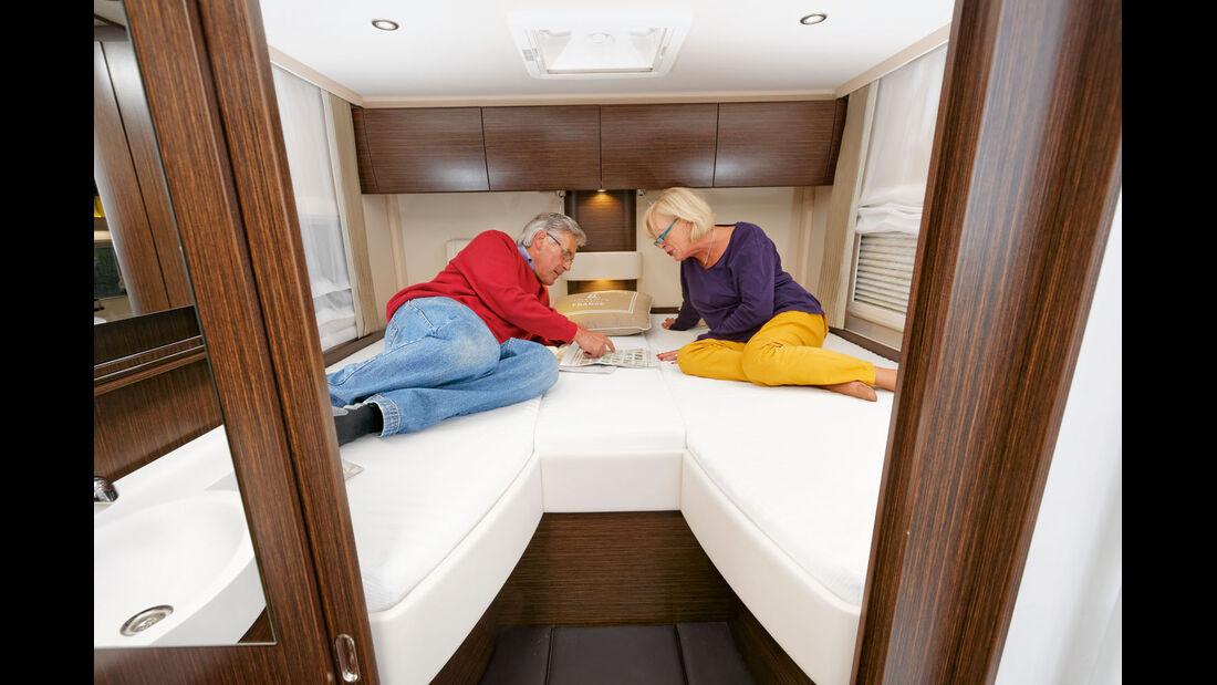 Grosse Einzelbetten mit superbequemem Einstieg und gutem Liegekomfort.