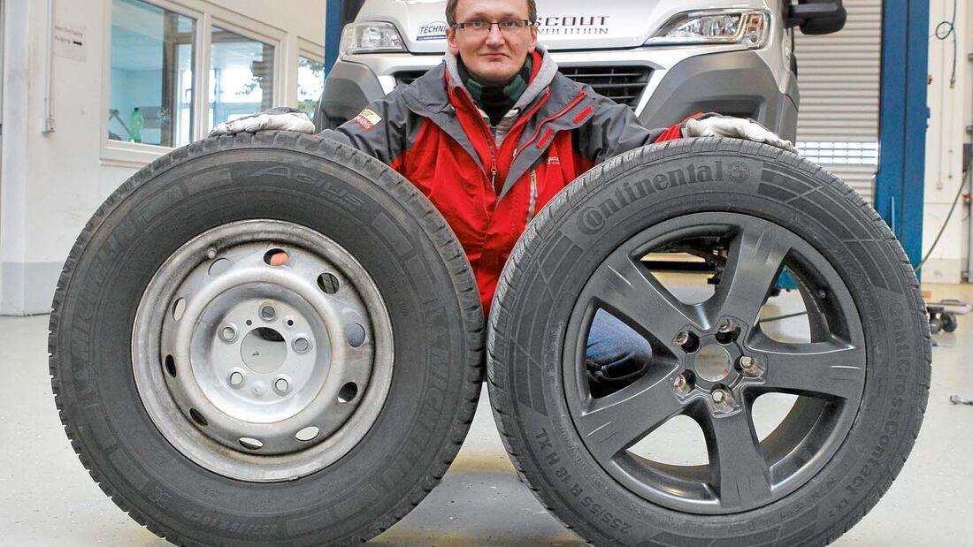 Große Reifen auf schicken Alus sehen auch auf Reisemobilen toll aus.
