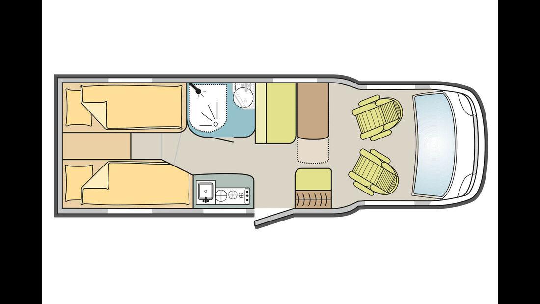 Grundriss Adria Compact