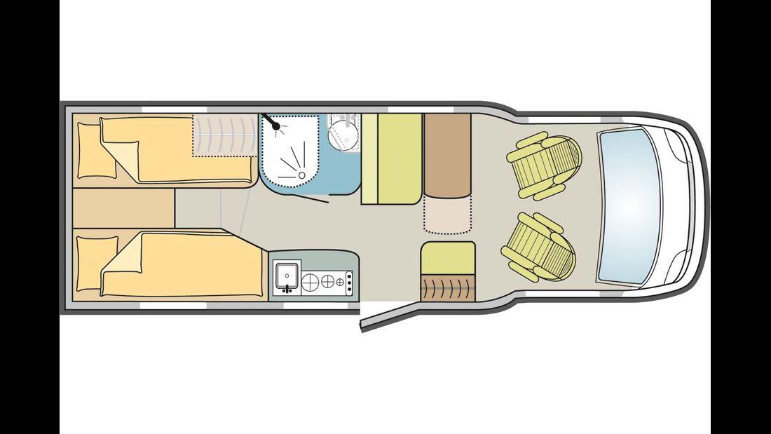 Grundriss Adria Compact Plus SL