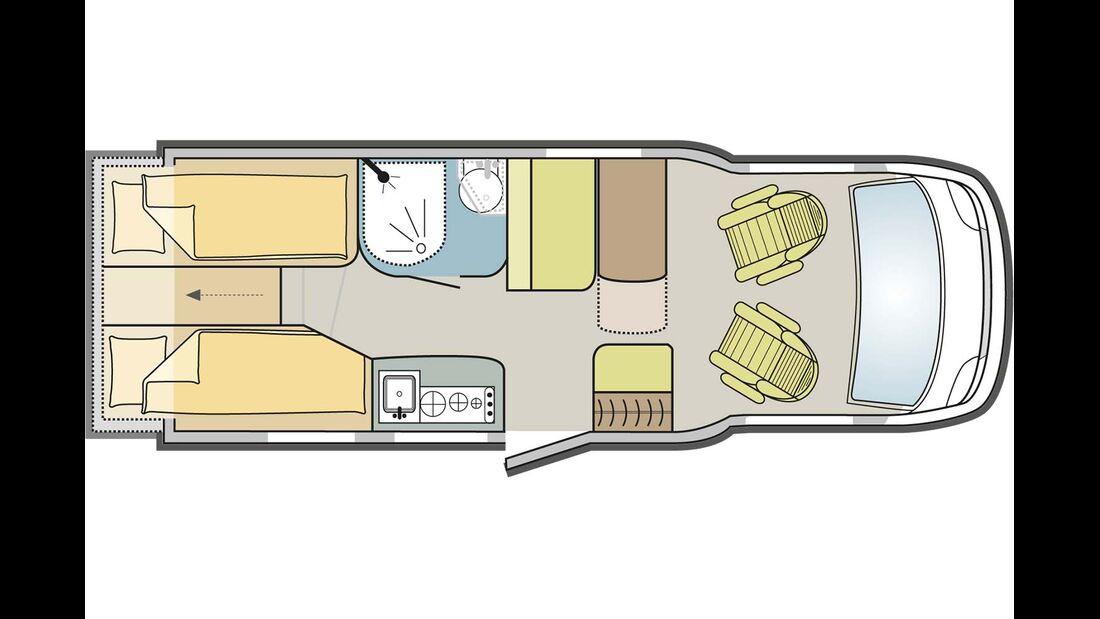 Grundriss Adria Compact Plus SLS