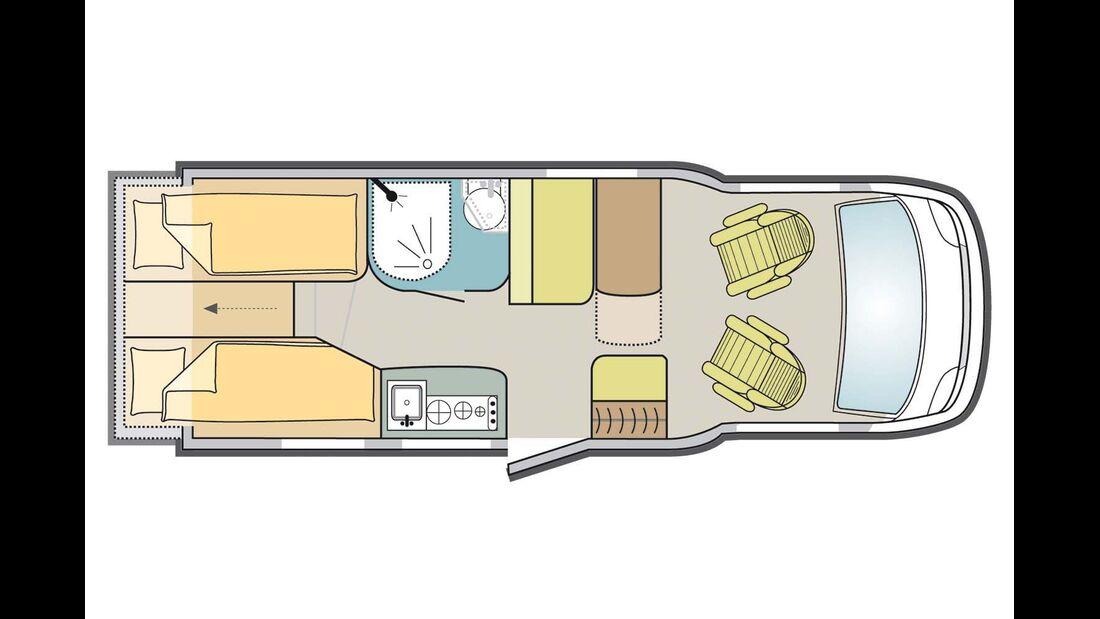 Grundriss Adria Compact SLS