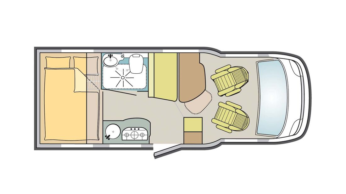 Grundriss Bürstner Travel Van t 590 G