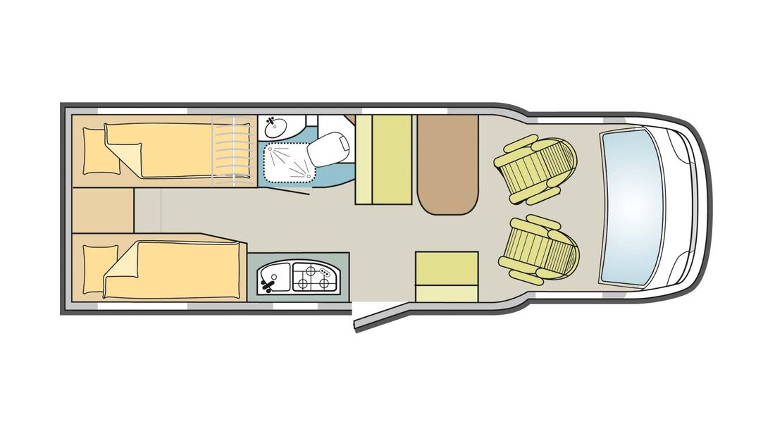 Grundriss Dethleffs Globebus Active T4