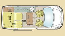 Grundriss Mercedes Marco Polo