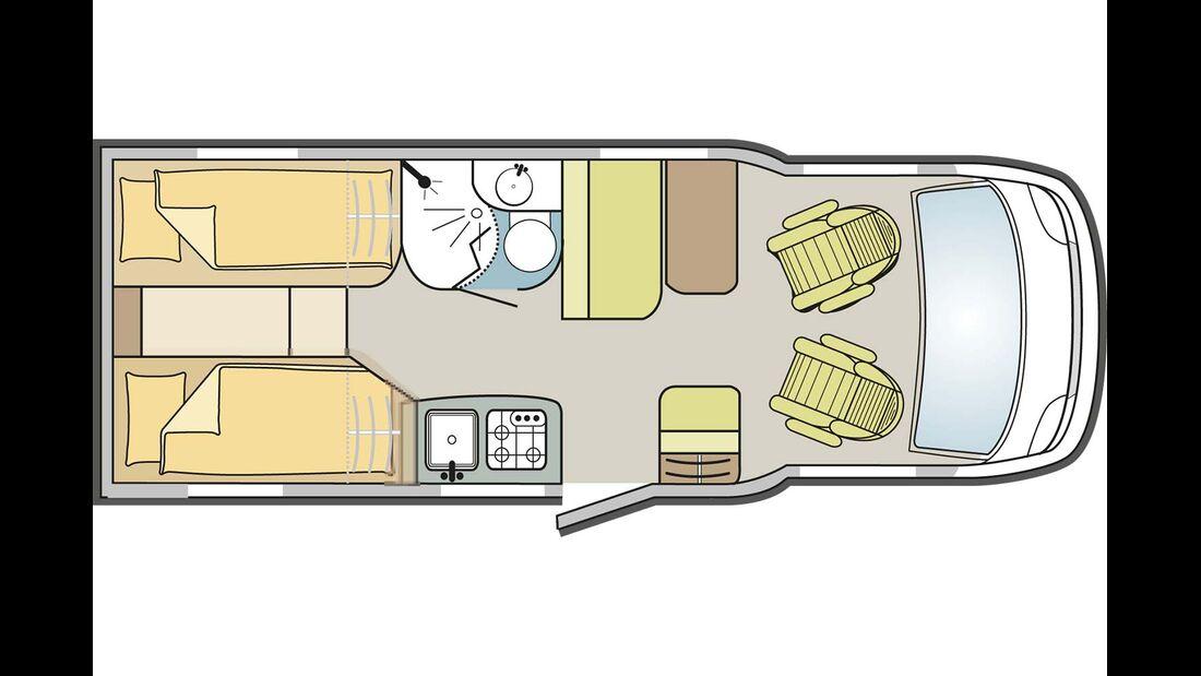 Grundriss Sun Living Lido S 42SL