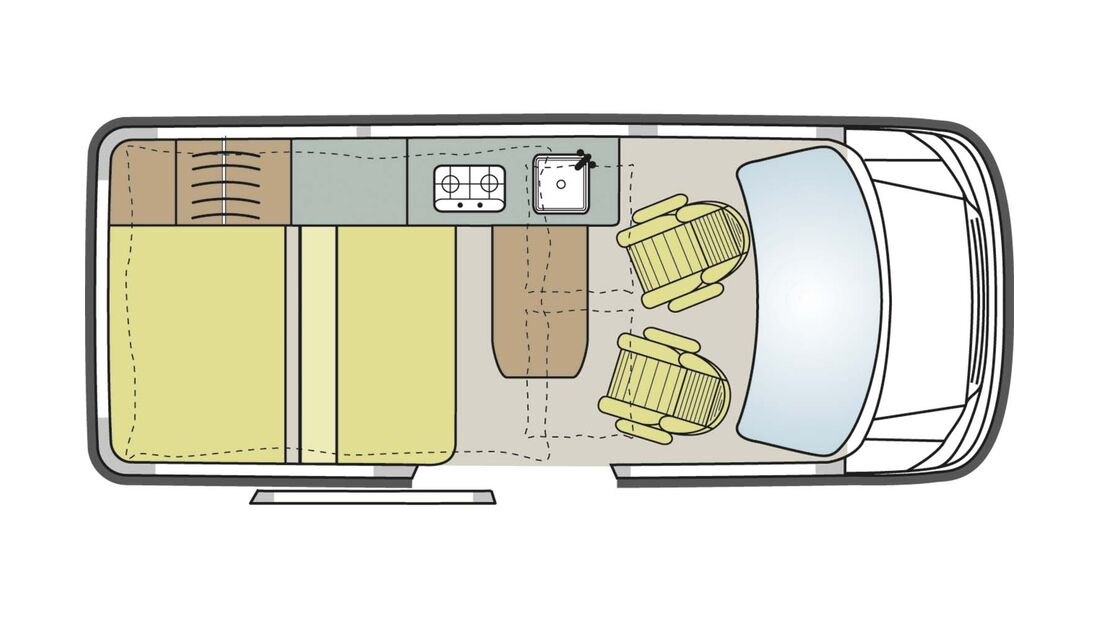 Grundriss VW California