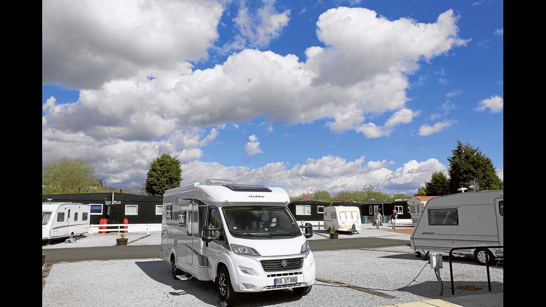 Günstig gelegener Campingplatz für Stadtbesuche in Glasgow