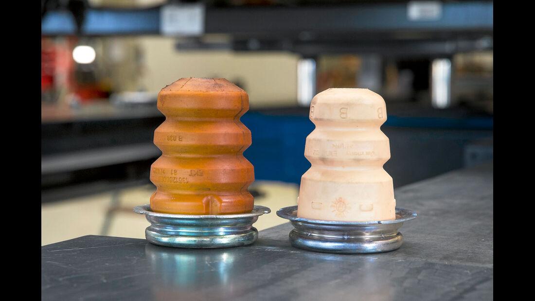 Gummipuffer von Alko rechts neben dem Original