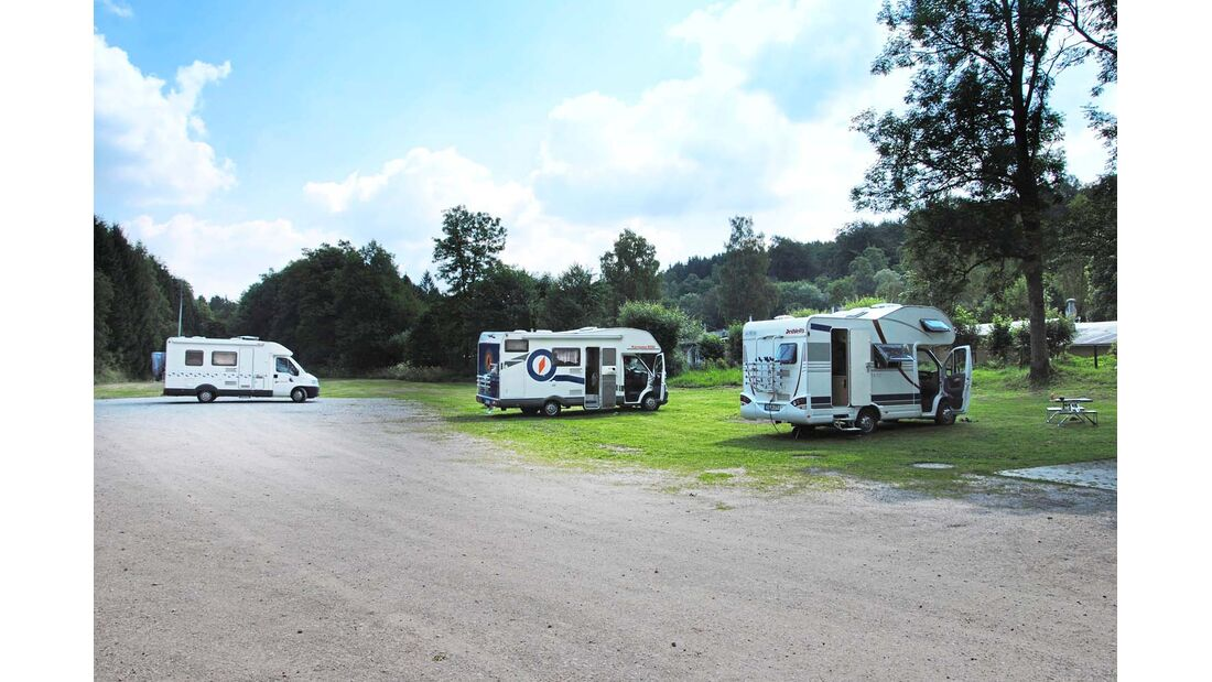 Gute Infrastruktur dank Campingplatz nebenan