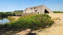 Haff Réimech: Das Museum Biodiversum in der Moselaue überzeugt mit seiner Architektur.