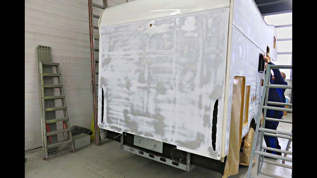 Hagelschäden am Wohnmobil