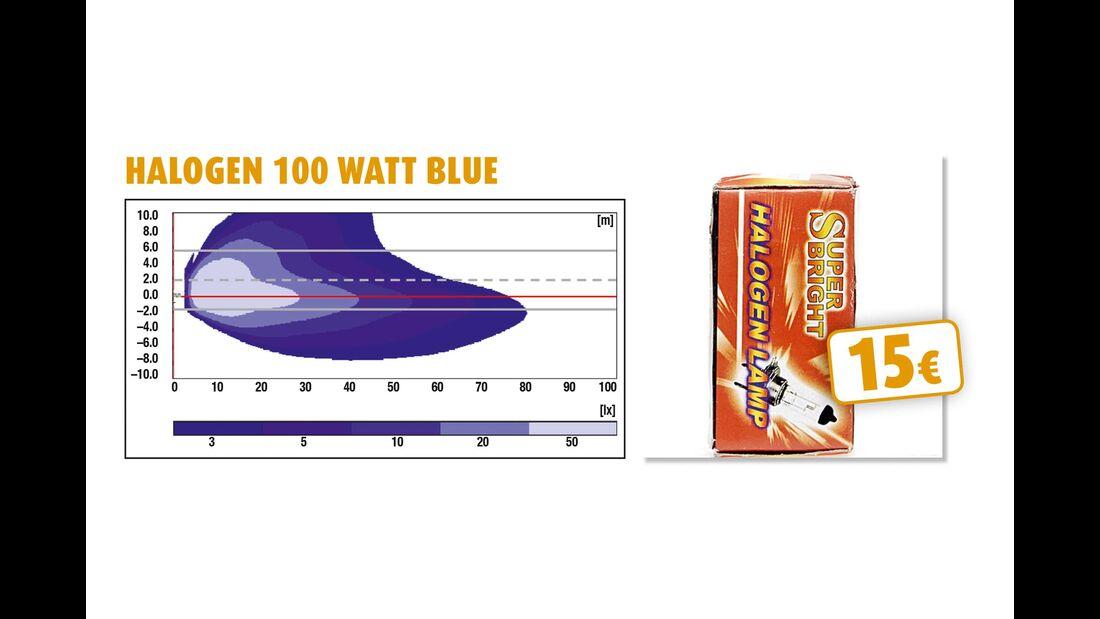 Halogen 100 Watt Blue