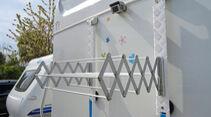 Hat der Radträger ausgedient, kann man die Halterungen für einen Wäschetrockner nutzen.