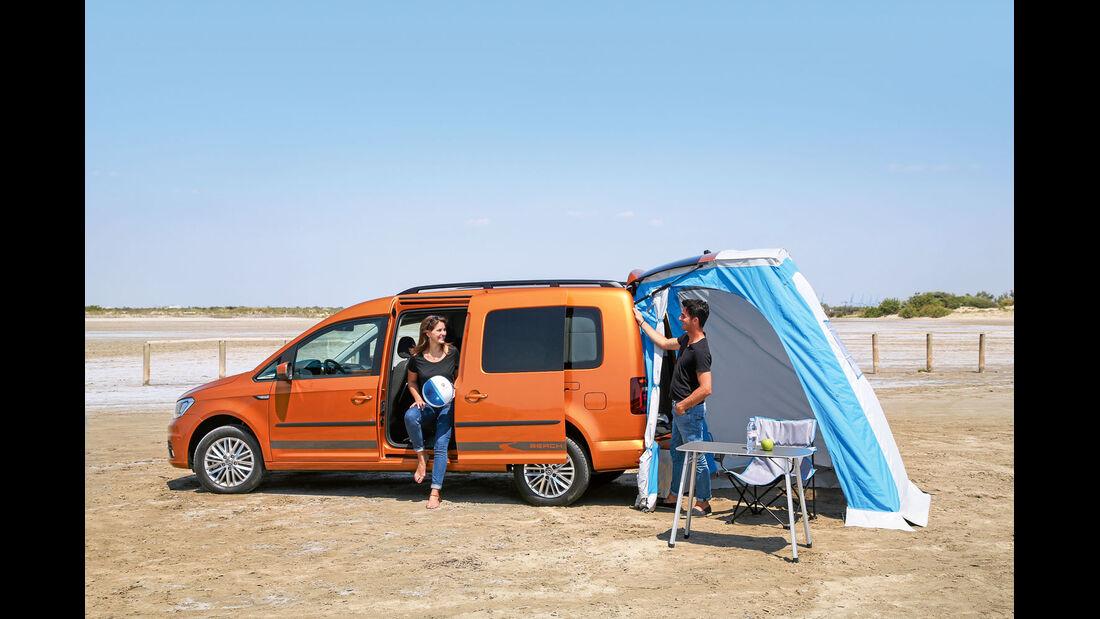 Heckzelt beim VW Caddy