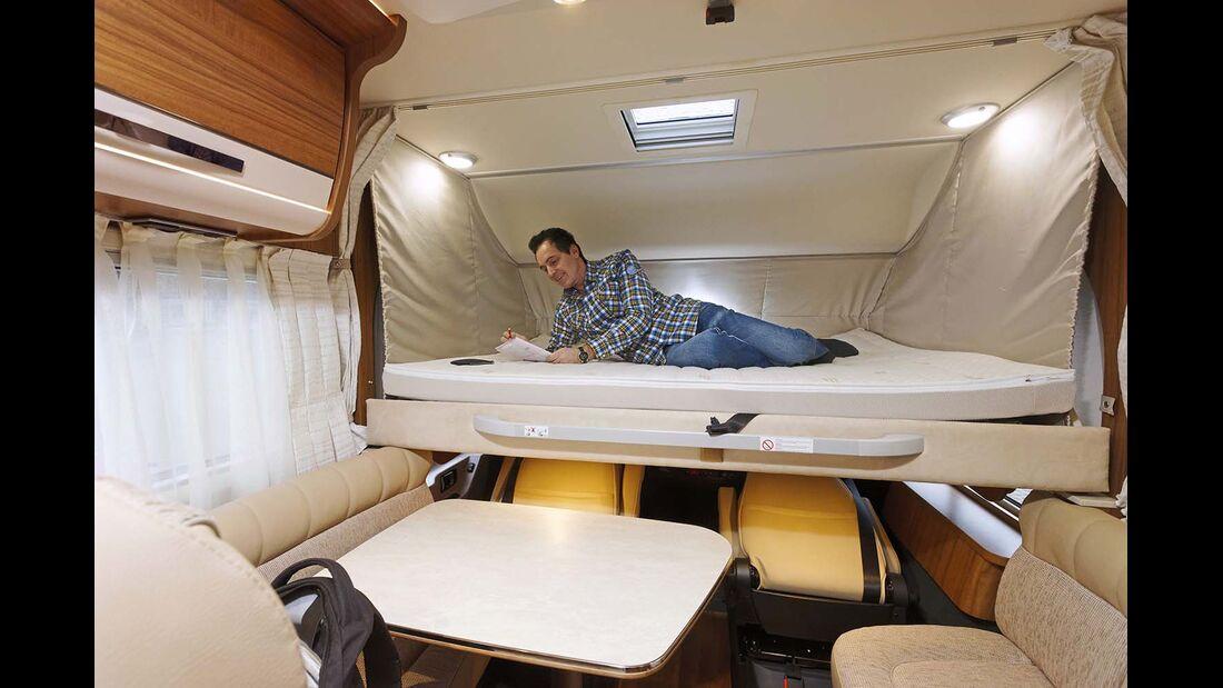 Hubbett beim Hymer B 678 Premium Line