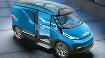 Hybrid-Konzept Iveco Dual Energy das künftig unterschiedliche Antriebskombinationen erlauben soll.