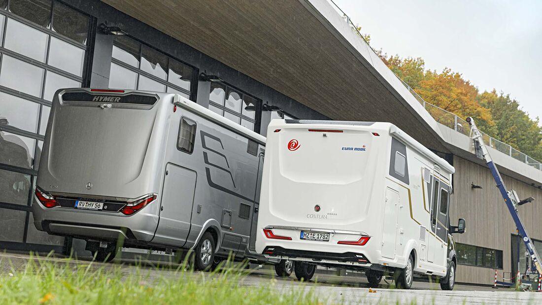 Hymer B-ML T 780 vs. Eura Mobil Contura 766 EF (2021)