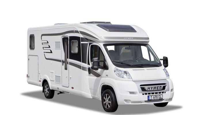 Hymer zeigt die neuen teilintegrierten Baureihen Tramp CL, Compact und den integrierten Hymermobil B-StarLight.