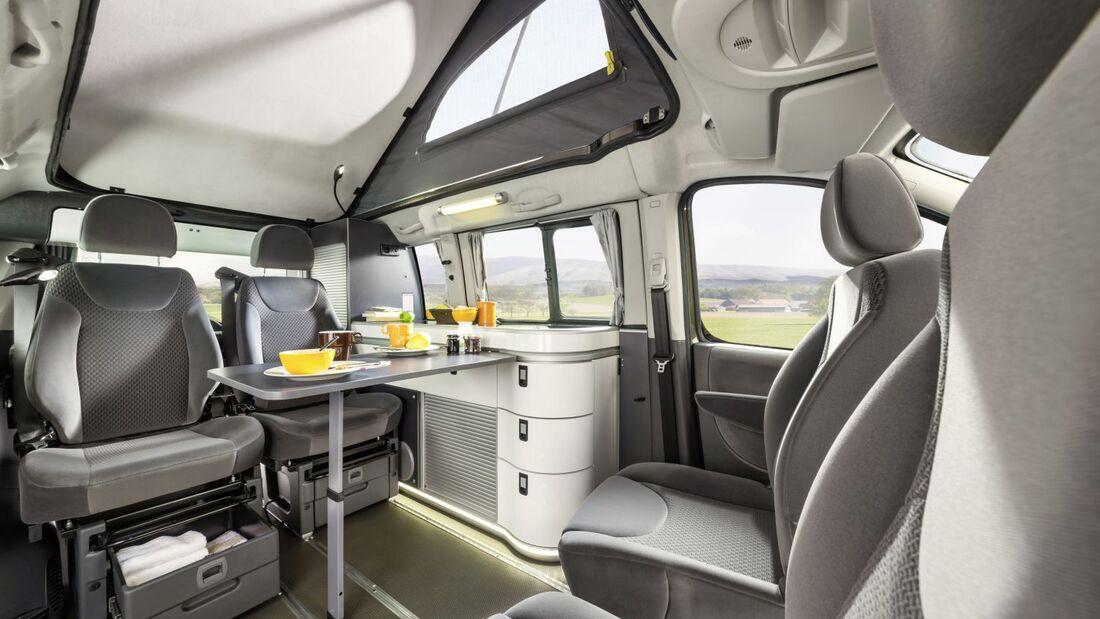 In enger Zusammenarbeit mit Westfalia entstand auf Basis des Expert Tepee ein Reisemobil. Es verfügt über einen 2.0 Liter HDi-FAP-Motor.