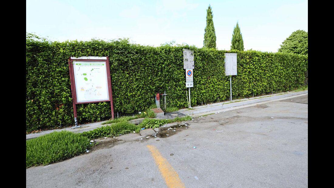 Infotafeln des Stellplatzes Parcheggio Stadio
