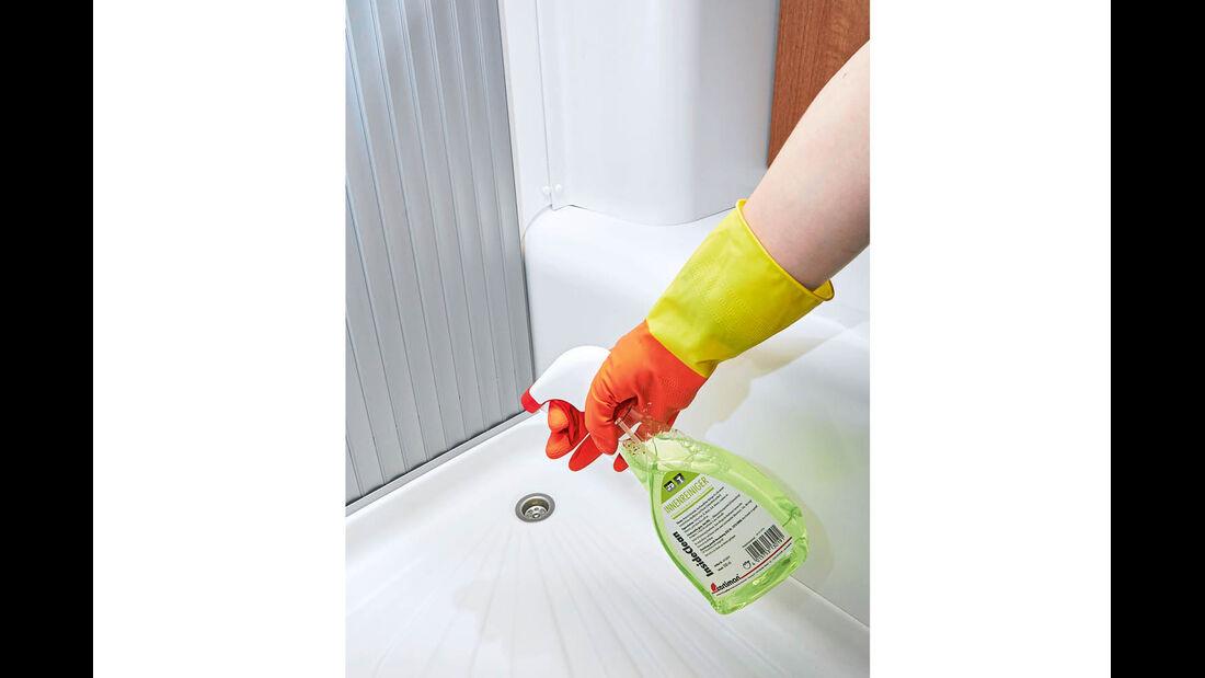 Inside Clean von Certiman für wasserunempfindliche Oberflächen, wie zum Beispiel Duschwannen