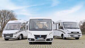 Integrierte Carthago Chic C-Line, Knaus Sun i und Hymer B 678 Premium Line