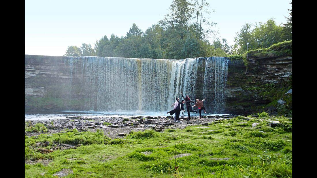 Jägala Wasserfall in Estland