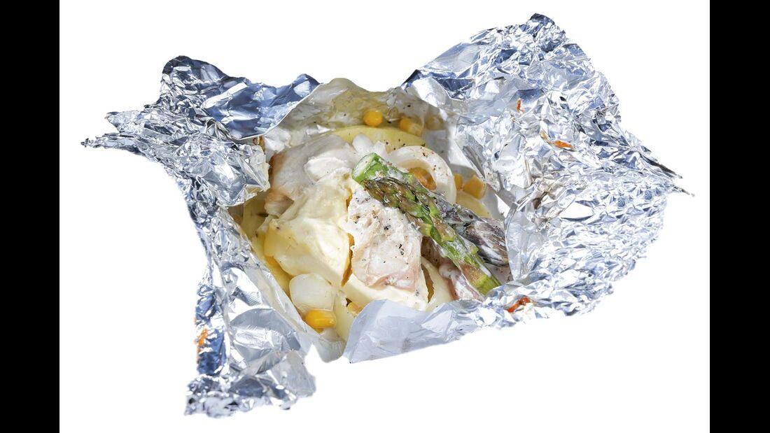 Jede Mischung ist möglich zum Beispiel auch mit Hühnerfleisch.