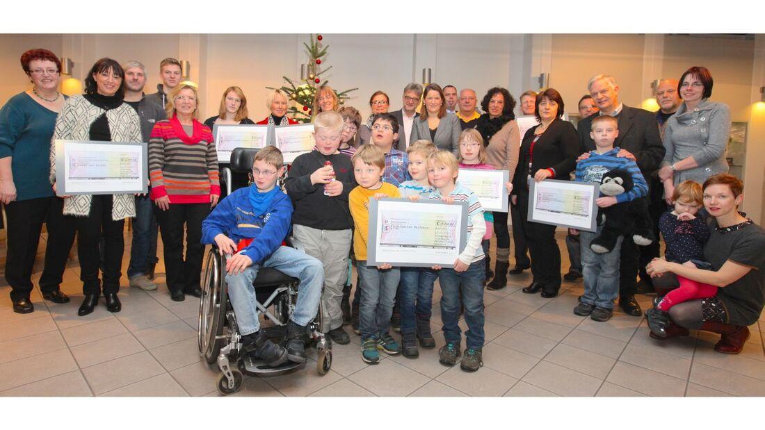 Jedes Jahr sammelt die Belegschaft von Volkswagen Nutzfahrzeuge traditionell Spenden für wohltätige Zwecke.