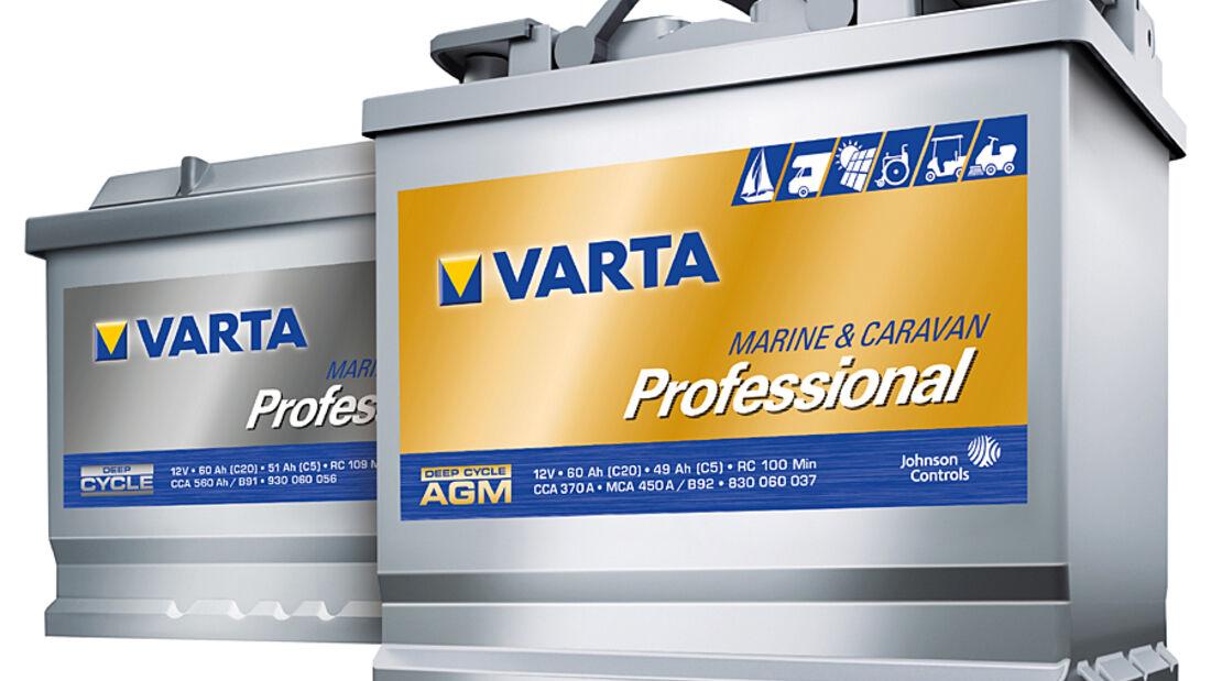 Johnson Controls bietet mit der Optima YellowTop und den neuen Varta Professional Deep Cycle drei Batterien an