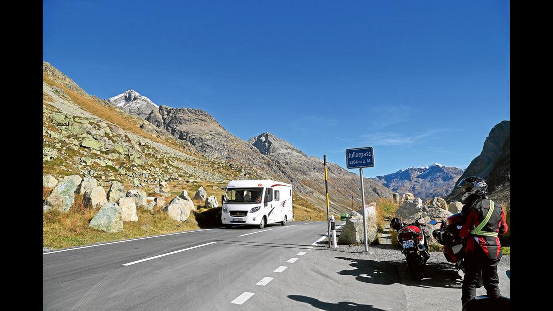 Julierpass in der Schweiz