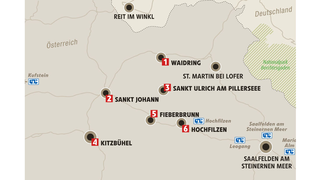 Karte, Kitzbueheler Alpen
