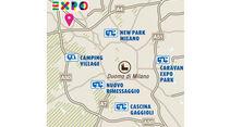 Karte Mailand