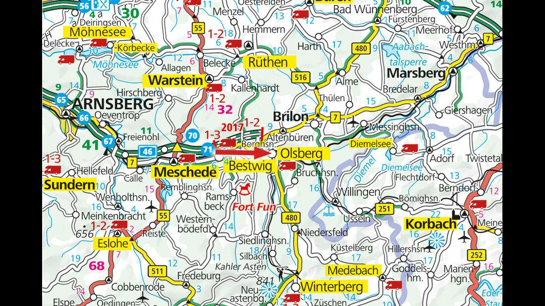 Karte, Olsberg