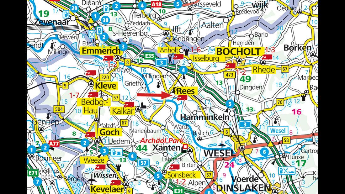 Karte Rees