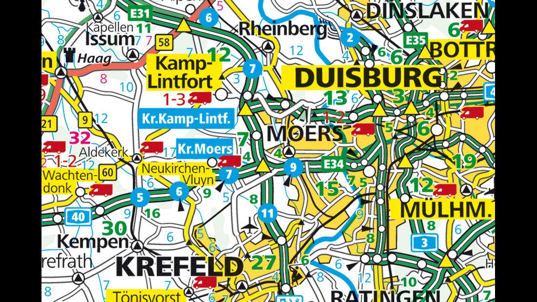 Karte Region Neukirchen-Vluyn