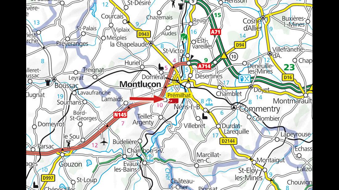 Karte Region Premilhat