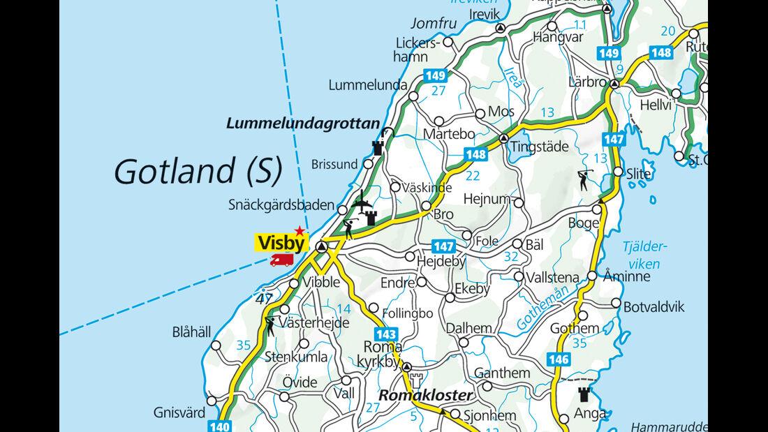 Karte Region Visby
