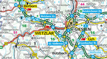 Karte Region Wetzlar