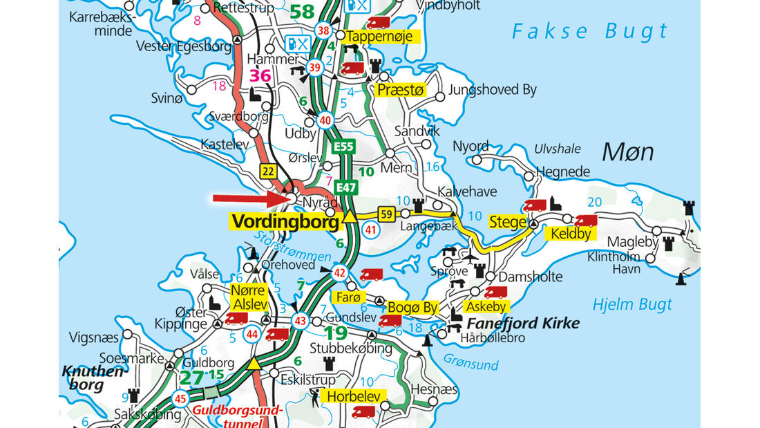 Karte, Vordingborg