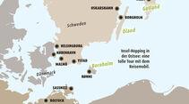 Karte von den Ostsee-Inseln.