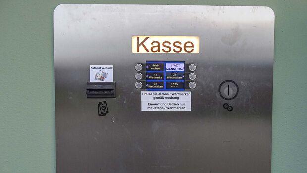 Kassenautomat - Stellplatz